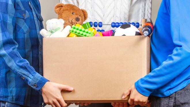 Health Shield staff donate toys to local children's ward.